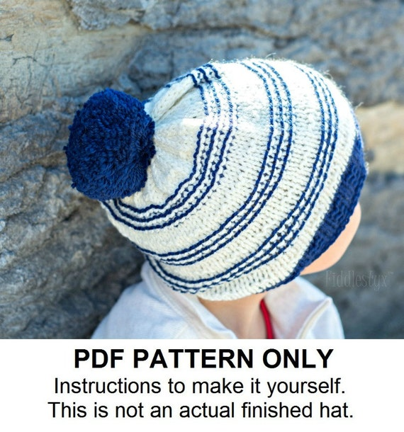 Slouchy Hat Knitting Pattern Circular Needles : Knitting Pattern Slouchy Hat Pattern the SYDNEY slouchy