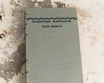 1945 WEEKEND MARRIAGE Vintage Lined Notebook Journal