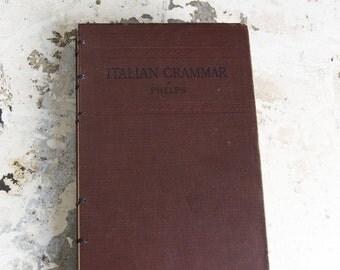 1917 ITALIAN GRAMMAR Vintage Notebook Journal