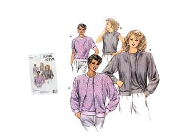 Vintage 80's Kwik Sew 1641 Sewing Pattern Misses Cardigan Pattern, Misses Top Pattern, 80's Fashion, DIY Cardigan, DIY Fashion, 80's Pattern