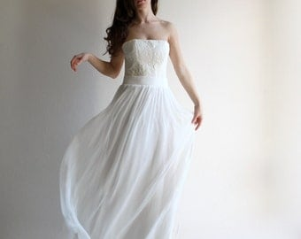 Wedding skirt, wedding separates, wedding dress, boho skirt, bridal skirt, alternative wedding dress, white skirt, chiffon wedding skirt