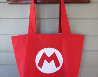 Super Mario Brothers Mario Tote - Made to Order