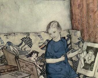 The Soot-fairies,  Arthur Rackham, Vinatge Art Print