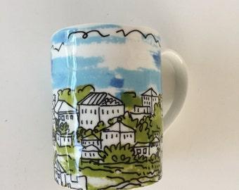 Vera Neumann Ceramic  Mug/ Porcelain Mug/ Vera Neumann Mug / Anthropologie Mug/Ceramic Mug /Vera Print/We Love Vera By Gatormom13