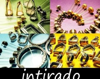 Wholesale Pendant Blanks, Reliquary, Clear Locket, Vial, Planter, Shadow Box Pendant, Craft Supplies, 25pcs Randomly Picked, Intirado, SALE