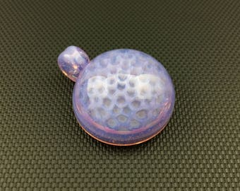 Glass Pendant // Pink Slyme Honeycomb