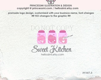 1147-5 Bakery logo, cooking, cook, premade Logo Design,  Sweet Kitchen logo Salt Shaker Sugar logo Chef logo by princessmi