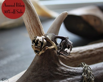 30% off Annual Birthday Sale Ready to Ship Miyu Decay Charivari Ring in Brass and Silver