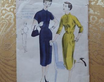1950 Vogue Pattern 7190, Size 16. Vintage Vogue Sewing Pattern.  Vogue Pattern 7190.  1950s Sewing Pattern. Mad Men Sewing Pattern. Vintage.