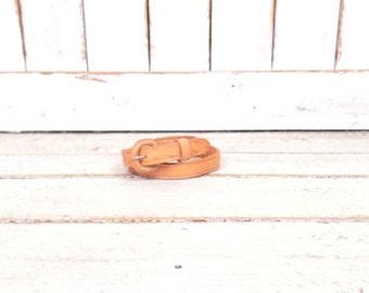 Vintage tan brown Southwestern style tooled woven leather belt/braided leather boho festival belt