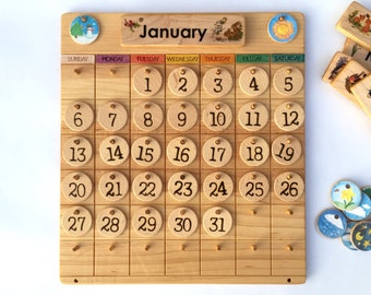 Weather chart etsy for Calendrier digital mural