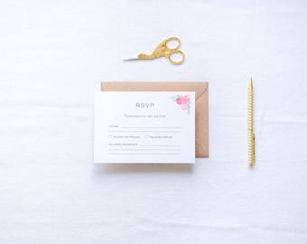 ADD ON: RSVP Cards & Envelopes | Harriet Wedding Stationery Collection | Customisable Wedding Invites