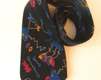 Sakowitz Silk Tie Made in Italy