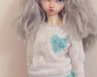 white light turquoise sweater Feeple Minifee BJD