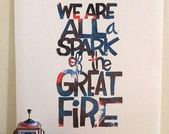 Hand lettering poster. Fine art print. Spark. Hand lettering print.
