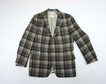 Vintage 60's Lord Churchill Scottish Tweed Plaid Jacket - Size 40