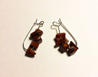 Mahogany Obsidian Gemstone Earrings