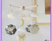 Baby Crib Mobile, Baby Mobile, Baby Boy Mobile, Sheep Mobile, Custom Mobile, Sleepy Sheep Farm, Sweet Lambie Mobile