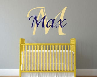 Name Decal - Name Wall Decal - Nursery Decor - Nursery Decal - Nursery Wall Decal - Baby Girl Nursery - Baby Boy Nursery - Wall Decals