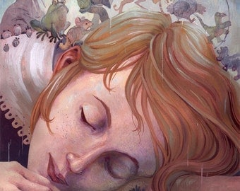 Alice Dreams- 10x 14 painting