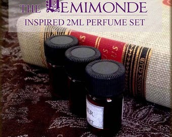 DEMIMONDE Gothic Victorian inspired Perfume Oil Set / 2ml Perfume / Vegan Handcrafted Perfume Oil