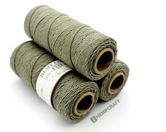 Sage Green Hemp Cord, High Quality Hemp Twine