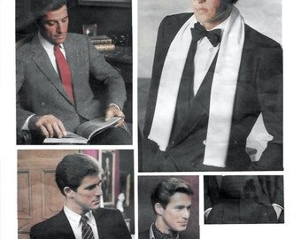 Vogue 2826 Men's 80s Ties, Ascot, Scarf & Cummerbund Sewing Pattern