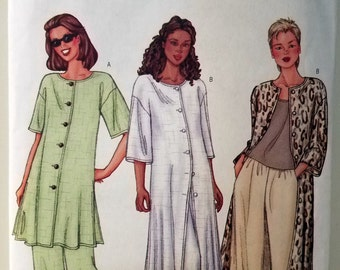 2001 Butterick Fast & Easy Women't Tunic and Pants Sewing Pattern #3090 Size 14 - 18 Uncut