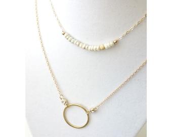 White Sapphire Necklace, White Sapphire Bar Necklace, White Sapphire Silverite Bar Necklace, Gold White Sapphire Silverite Bar Necklace