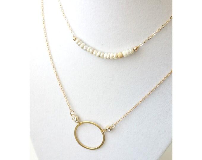 Silverite Necklace, Gold Silverite Necklace, Gold Silverite Bar Necklace, Silverite Bar Necklace, Bar Necklace, Gold Bar Necklace