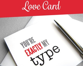 Valentine's Day Card. Valentine Card Printable. Instant Digital Download. Valentine Card for Boyfriend / Girlfriend. Typography Valentine.