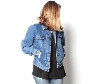 90s denim JEAN JACKET women's jacket coat