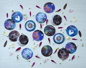 Set of 16 Spacey Stickers