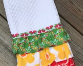 Sweet and colorful kitchen ruffle towel