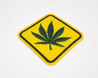 "Weed Patch Cartoon Patches Iron On Patch size 3"" x 3"""