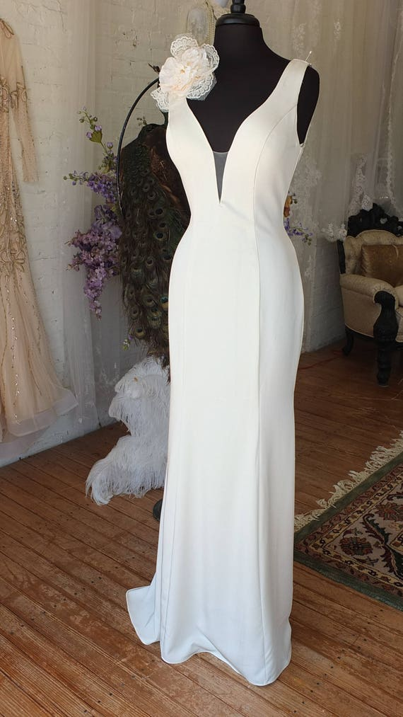 1960s inspired wedding dress