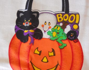 Pumpkin Pals Trick or Treat Bag - Sewing Fabric Panel