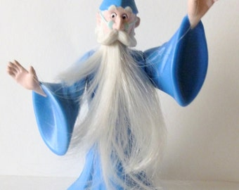 Sword and the Stone, Merlin the Magician, Disney Masterpiece Collection, NEVER USED, McDonalds, Happy Meal,  1995, Characters, Figurine