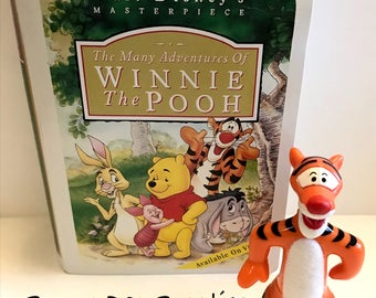 Tiger Toy, Tiger from Winnie the Pooh Story Books, Vintage Masterpiece Collection, NEVER USED, McDonalds Happy Meal, 1995,  Small Toys