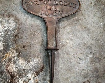 Solid bronze odd fellows grave marker
