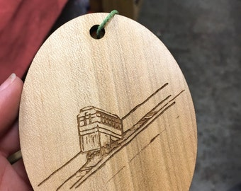 The Incline ornament from our Peculiar Pittsburgh series