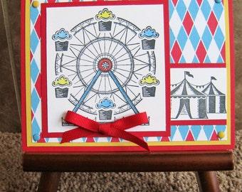 Handmade Card - Carnival Birthday - Stampin Up - Circus
