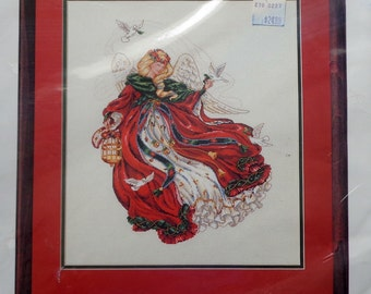 Counted Cross Stitch Kit | ANGEL OF CHRISTMAS | Laine Gordon | Dimensions