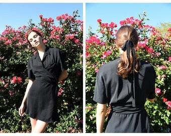 Thierry Mugler Dress, French Vintage, Vintage Mugler Dress, Designer Vintage, Little Black Dress, LBD, 80s dress, 1980s dress, Paris France