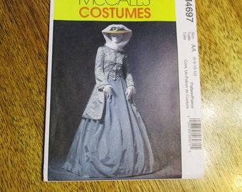 1860s CIVIL War Era Gown / Riding Jacket, Dirndl Skirt & Shawl - Size (6 - 8 - 10 - 12) - UNCUT Sewing Pattern McCalls 4697