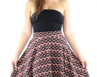ON SALE Midi Skirt with pockets, mod skirt circle skirt pinup skirt A line skirt pull on skirt jersey skirt skirts on sale retro skirt