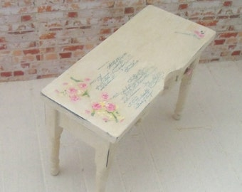 Dollhouse miniature shabby/vintage chic sideboard - OOAK