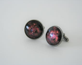 Cosmos Cufflinks Nebula Space Galaxy Stars Astronomy - perfect gift for anyone