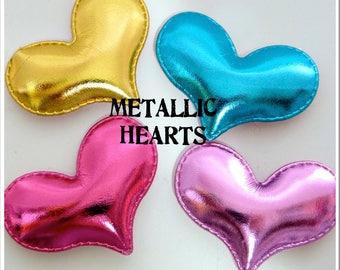 54mm Padded Metallic Heart
