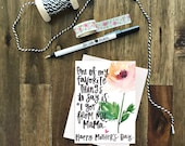 I Got It From My Mama - Mother's Day Greeting Card with Coordinating Envelope - moms, mothers, floral, blush, watercolor
